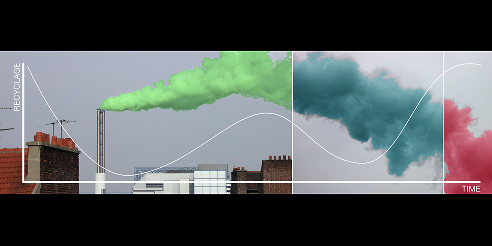 HeHe (Helen Evans & Heiko Hansen), Pollstream–Nuage Vert (Green Cloud), 2008. Image courtesy of the artists and Ars Electronica.