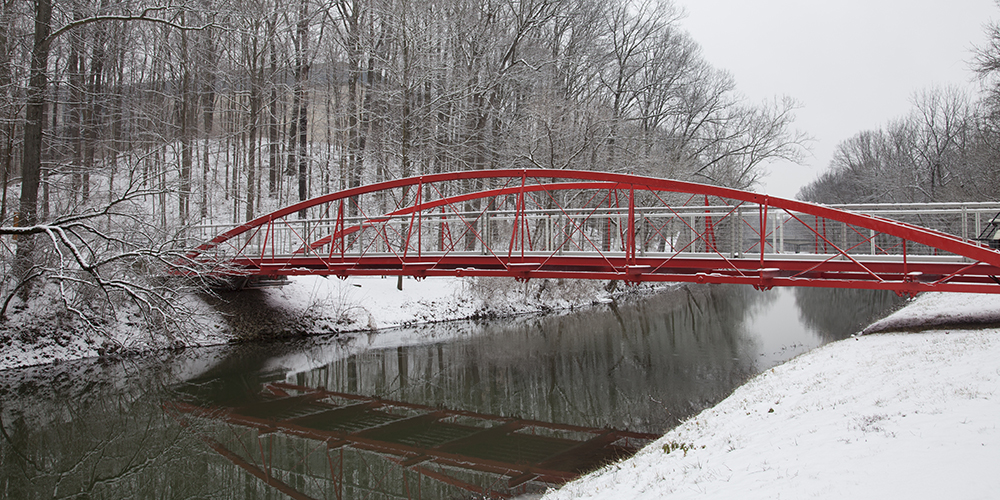 Waller Bridge to The Virginia B. Fairbanks Art & Nature Park: 100 Acres, Indianapolis Museum of Art.
