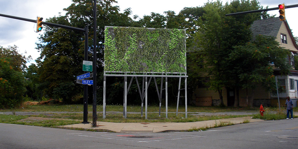 Kyle Butler, Signs: Intervention and Intrusion, 2012. To be installed at the Michigan Avenue Farm, on Michigan Avenue, Buffalo, New York. Image courtesy of Terrains Vagues.