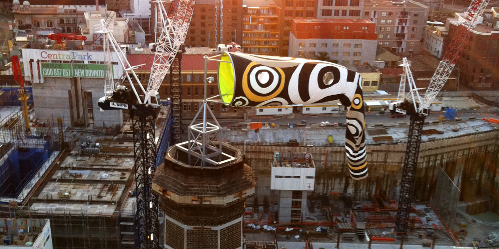 Mikala Dwyer, Windwatcher, 2011. Central Park, Chippendale, Sydney. Image courtesy of Frasers Property Australia.