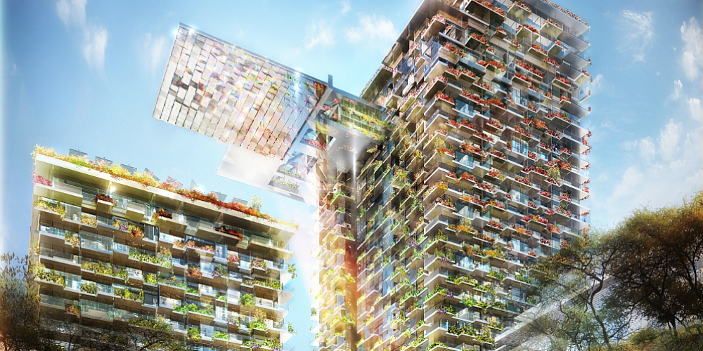 Patrick Blanc, Vertical Gardens for Jean Nouvel's One Central Park development, 2013. Located at Central Park, Chippendale, Sydney. Image courtesy of Frasers Property Australia.