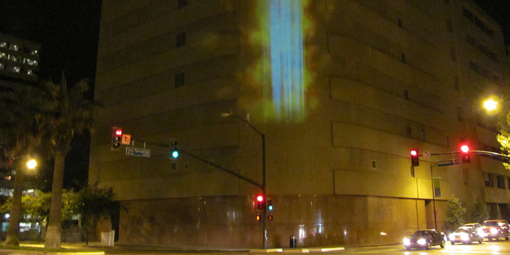 Particle Falls : Andrea Polli and Chuck Varga
