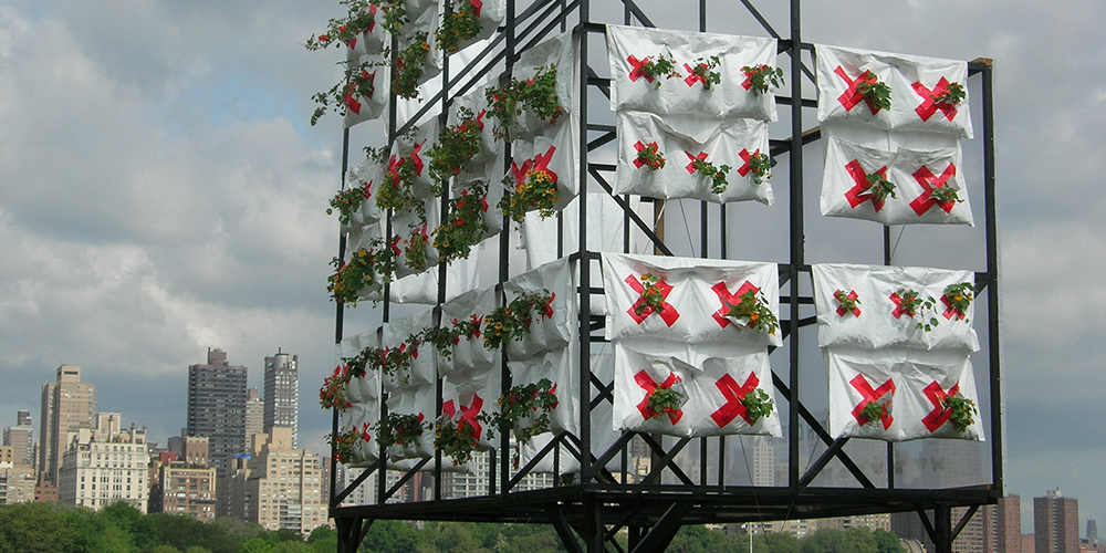 Natalie Jeremijenko, xClinic Farmacy, 2011-. Install view, Socrates Sculpture Park, Long Island. Image courtesy of the artist.