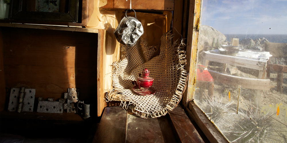 Image from within the Beach Shack, home #3.The Homes Project. Image courtesy of the artist.