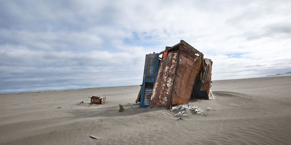Beach shack collapsed, The Homes Project. Image courtesy of the artist.